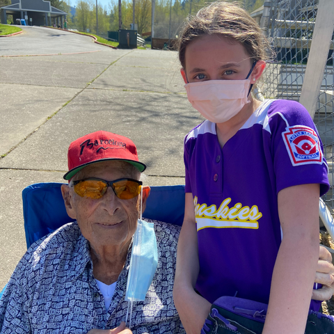 Great-grandfather with Great-granddaughter
