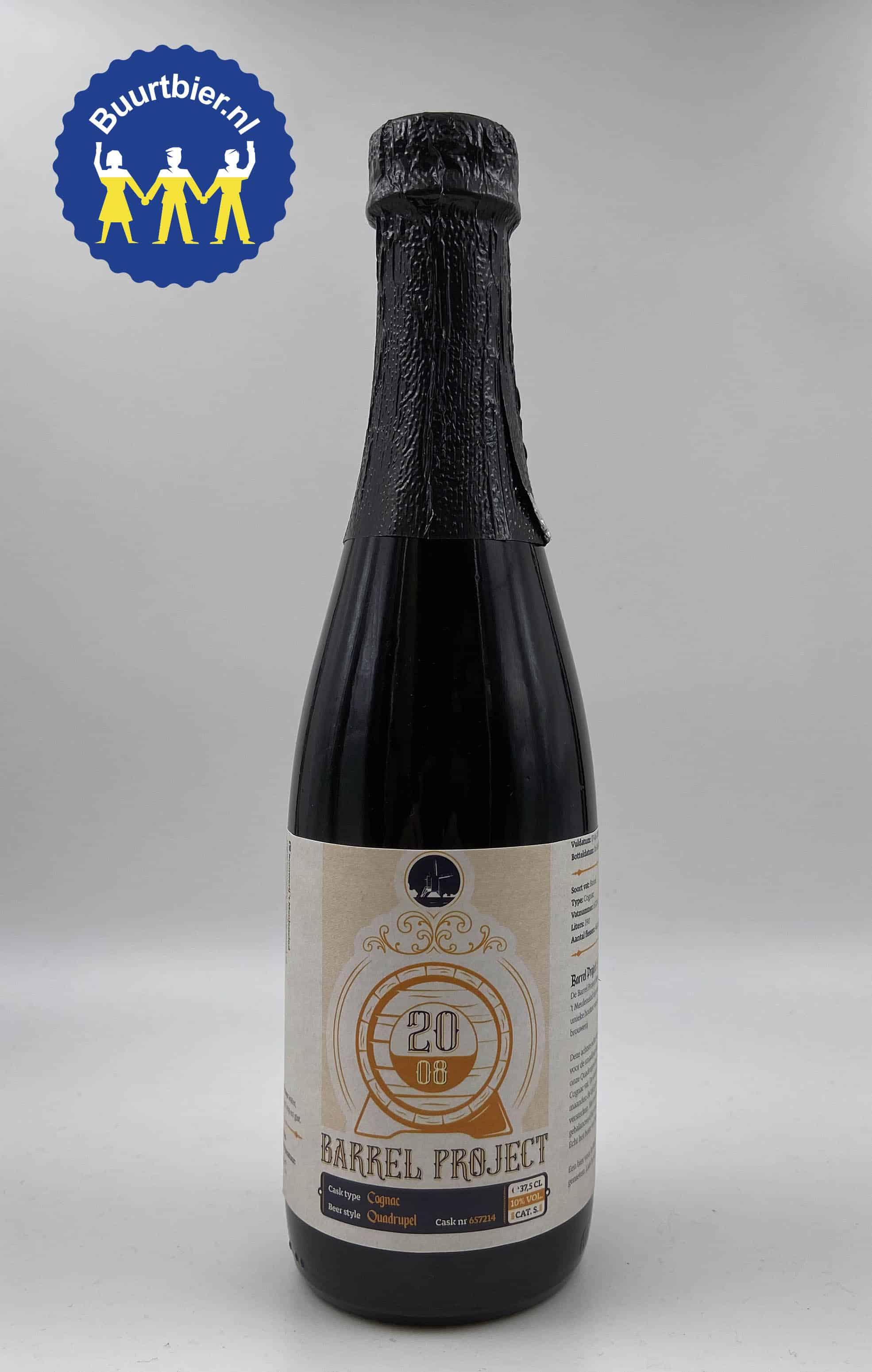 20.08 Barrel Project Quadrupel 37,5cl - Brouwerij 't Meuleneind
