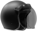 GDM RENEGADE Open Face Motorcycle Helmet 3/4 Vintage Matte Black