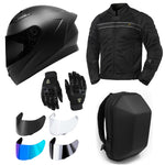 GDM Motorcycle Protective Gear Bundle (Premium Pack)