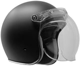 GDM RENEGADE Bluetooth Open Face Motorcycle Helmet 3/4 Vintage Matte Black