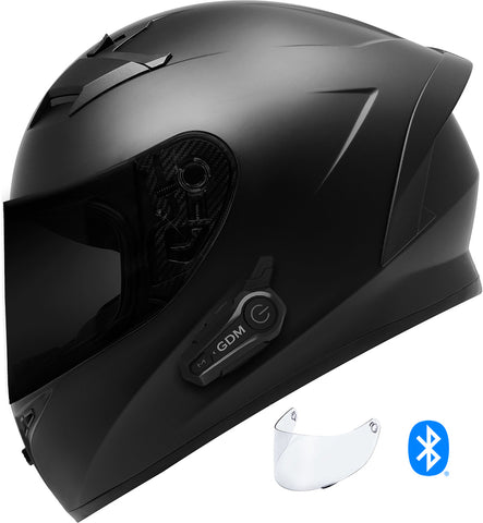 GDM VENOM Helmet with GDM HYPERSONIC Bluetooth Intercom