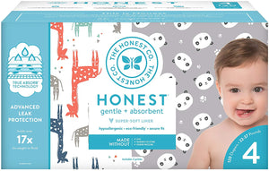 The Honest Company Super Club Box Diapers with TrueAbsorb Technology, Size 4, 120 Count