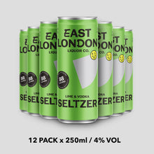 Load image into Gallery viewer, Lime & Vodka Seltzer - 4% VOL x 12