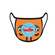 Re-useable Handmade Cloth Face Covering Smiling Monster Design