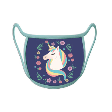 Re-useable Handmade Cloth Face Covering Unicorn Design