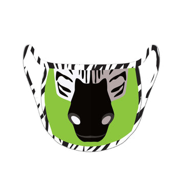 Re-useable Handmade Cloth Face Covering – Zebra Face Pattern