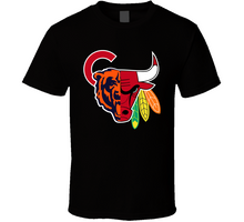Load image into Gallery viewer, Chicago Sports Team Mashup T Shirt