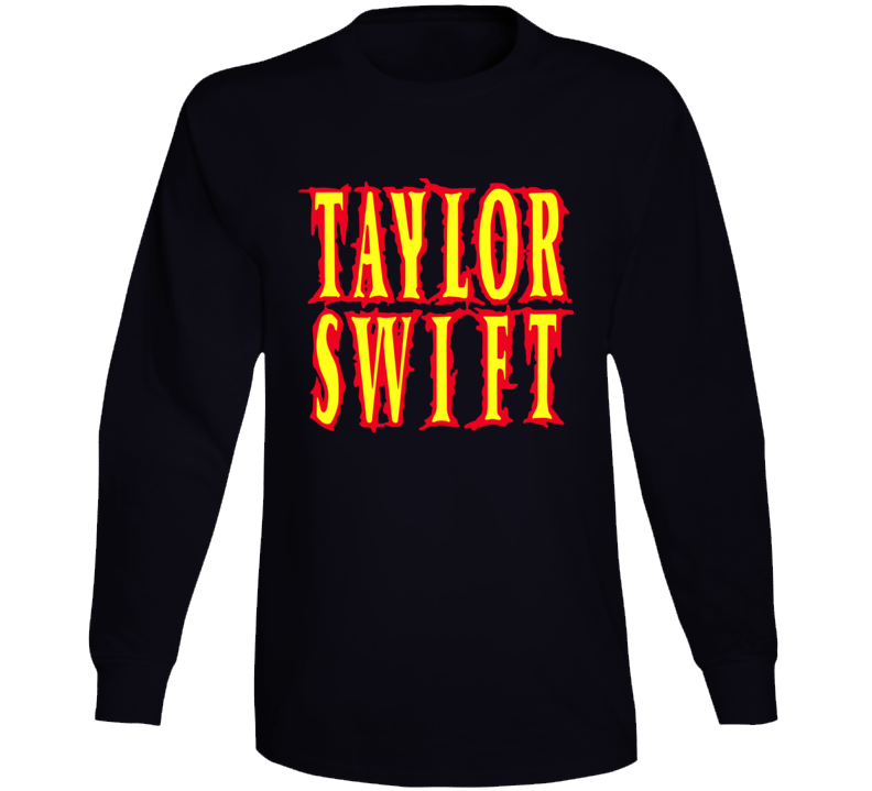 Taylor Swift Band Metal Words Long Sleeve T Shirt