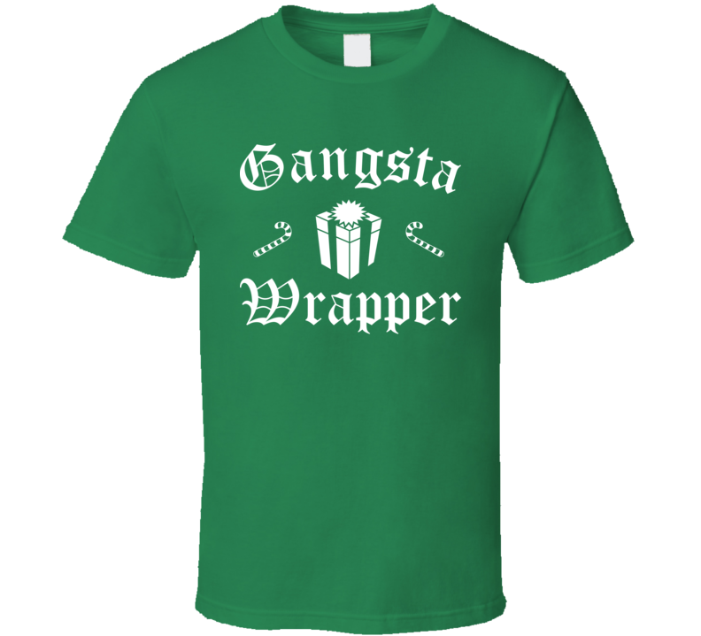 Gangsta Wrapper Christmas Funny T Shirt