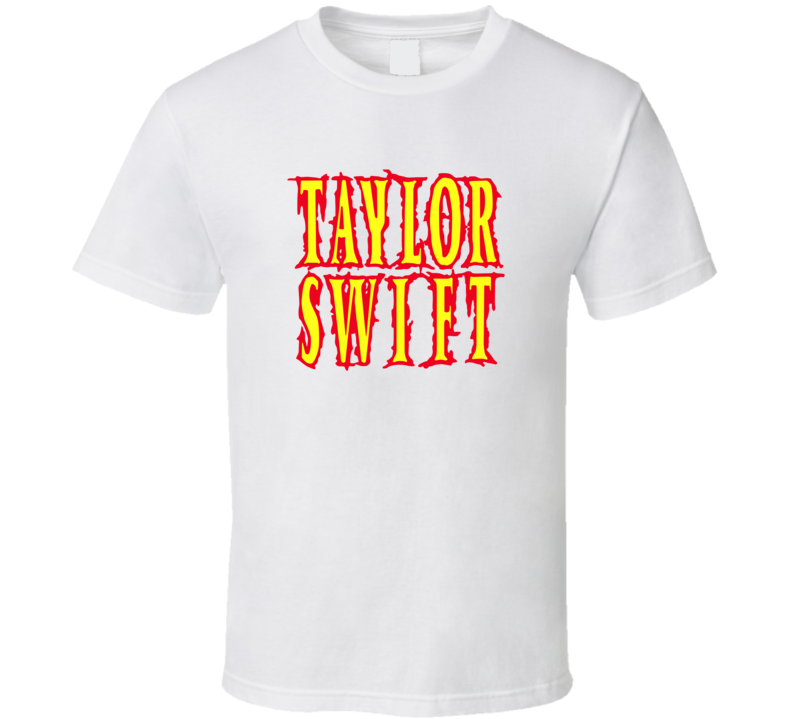 Taylor Swift Earth Crisis Band White T Shirt