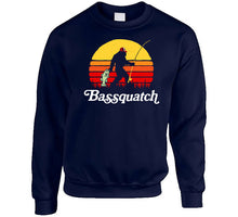 Load image into Gallery viewer, Bassquatch Funny Bigfoot Fishing T Shirt