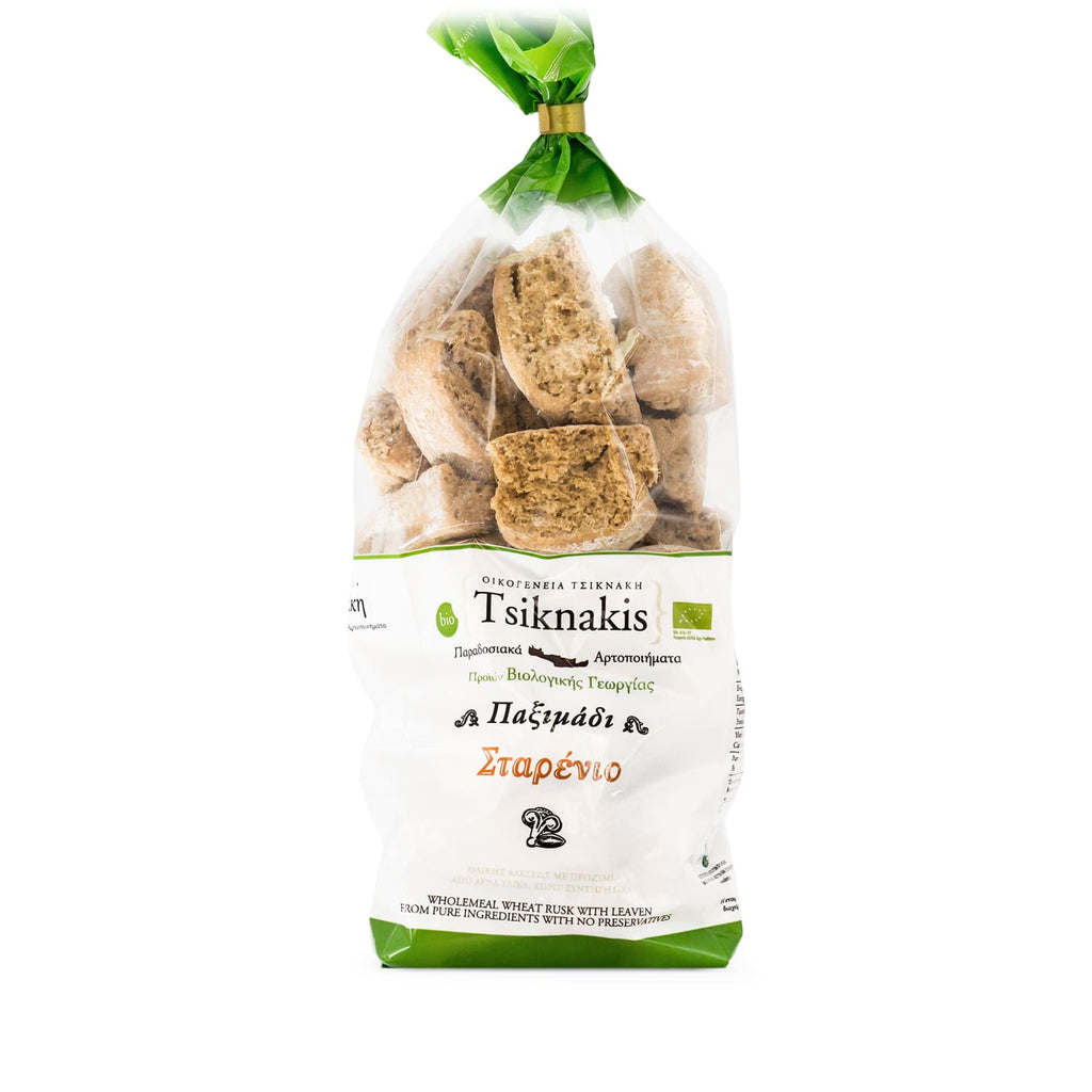 Cretan organic wheat rusks