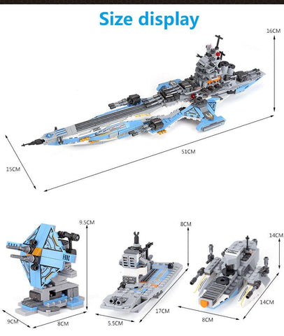 Space Battleship 8 in 1 Building Block