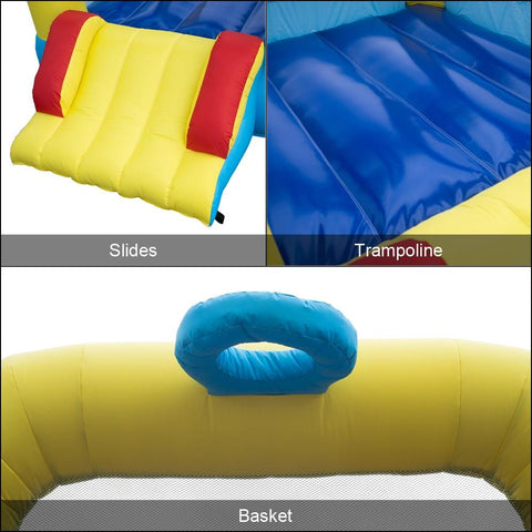 Image of Inflatable Jumping Castle with Slide -includes Air Blower