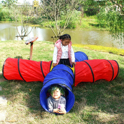Image of 4-way Play Tunnel Folding Portable Playpen