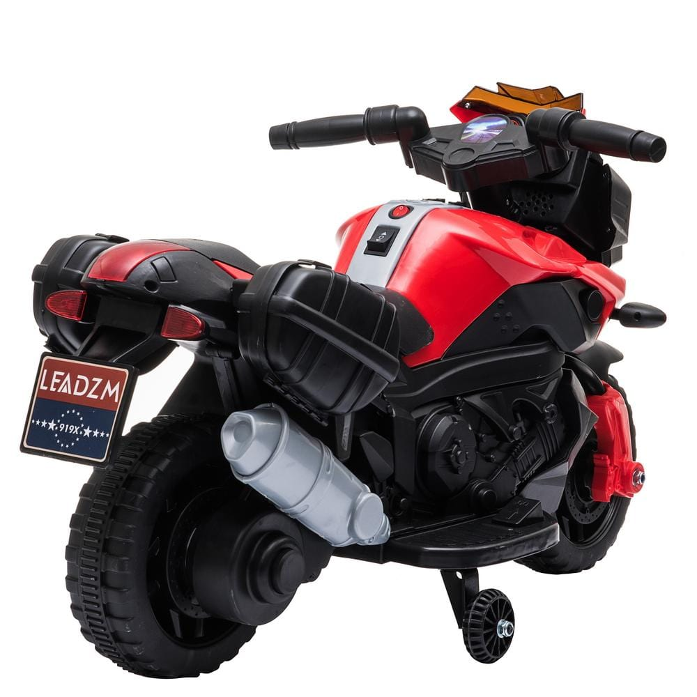 Kids Electric Motorcycle Ride-On Toy 6V Battery Powered w/ Music