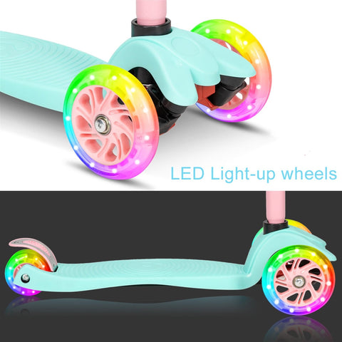 Image of 3 Wheel Kids Scooter 3 Height Adjustable LED Light-up Wheels