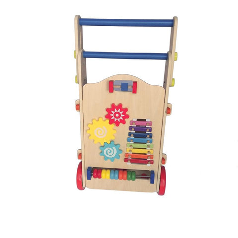Image of Adjustable Wooden Baby Walker