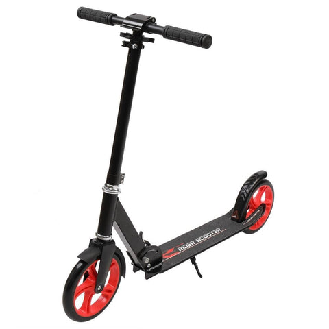Foldable Teen Scooter Black Red