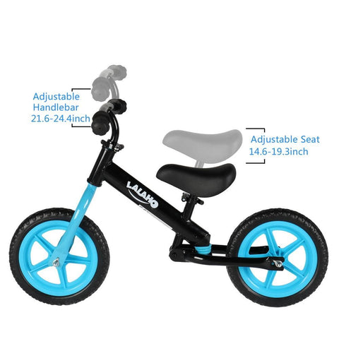 Image of Kids Balance Bike Height Adjustable Blue/Pink/Green or Yellow