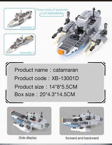 Image of Space Battleship 8 in 1 Building Block