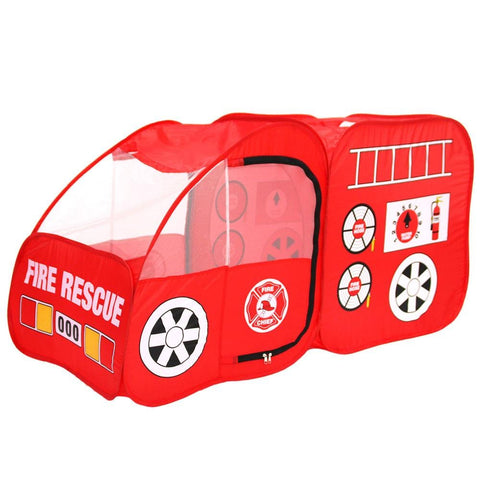 Image of Fire Engine Design Folding Portable Playpen