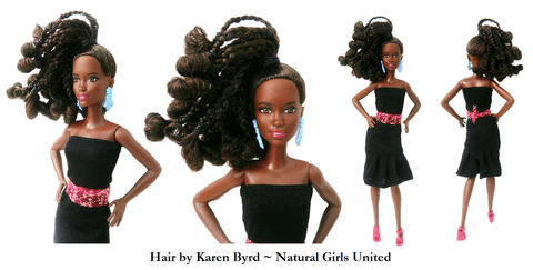 Doll with braided ponytail - by Natural Girls United