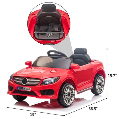 Image of Red 12V Kids Ride On Car 2.4GHZ Remote Control
