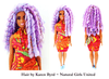 Colorful Spiral Curls Curvy Doll by Natural Girls United