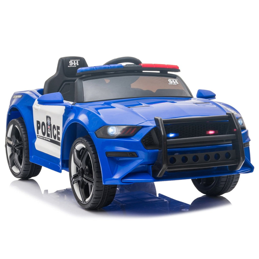12V Kids Ride On Car, Police sports car-Remote Control Blue