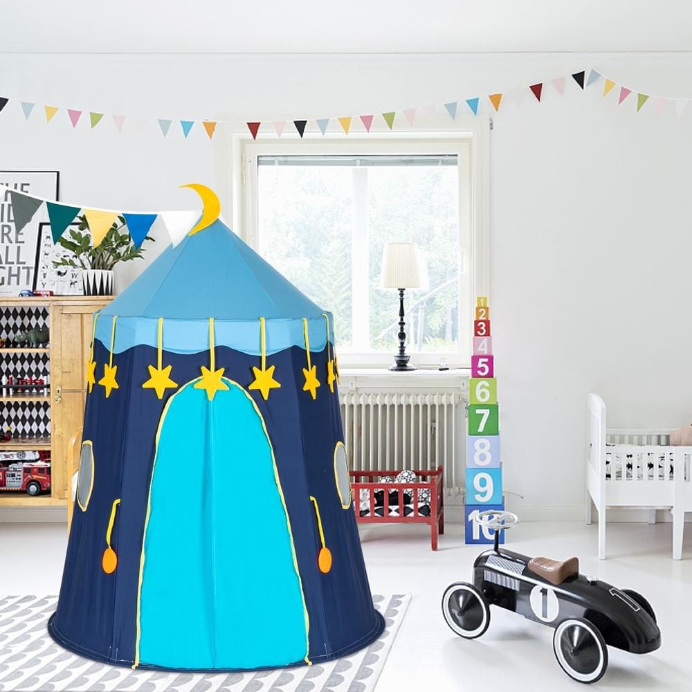 Cotton Yurt Tent With Small Colorful Flags