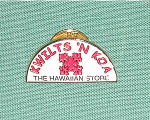 Kwilts 'N Koa Logo Pin