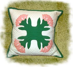 Lehua Blossom Finished Pillow