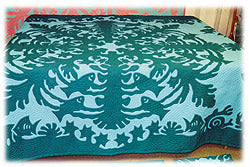 Fish on Coral Finished Quilt