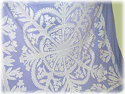 White Ginger Quilt Pattern - Double, Queen, or King