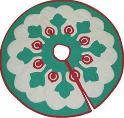 Kukui Lei Christmas Tree Skirt Pattern