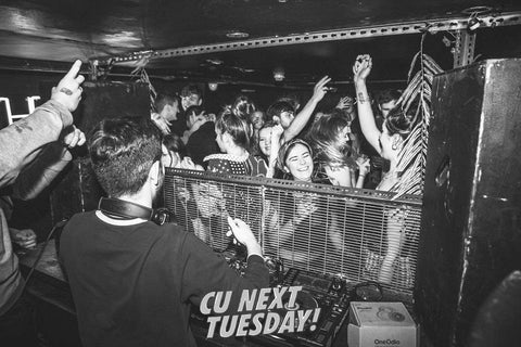 People dancing and raving to a full crowd at The Alley event in room 2 at CU Next Tuesday Brighton for ROX promotions