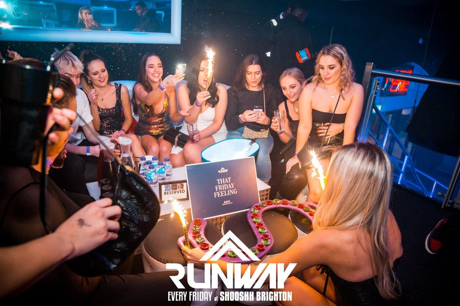 girls vip brighton student nightlife partying busy weekend  birthday celebration special occassion