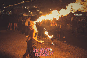 CU Next Tuesday highlight reel tuesdays donuts brighton party dancing music students clubbing partying confetti inflatables fun