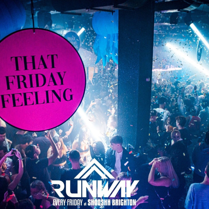 runway fridays at shooshh brighton nightclub nightlife party bars clubs confetti