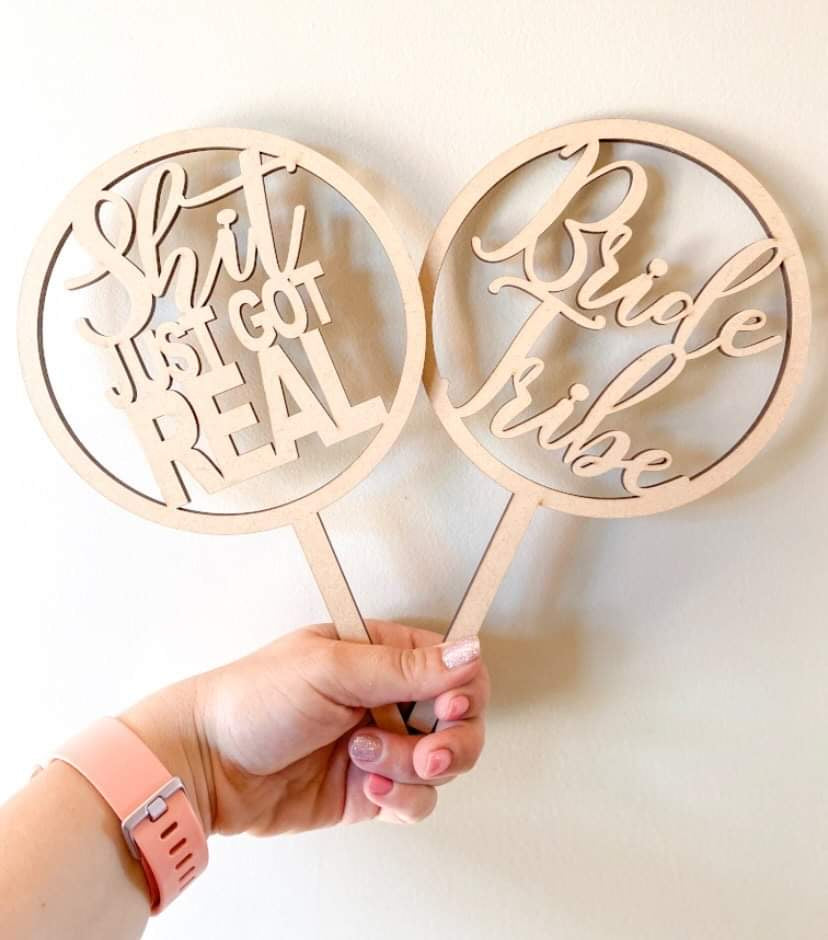 Customised Plain Cake Toppers