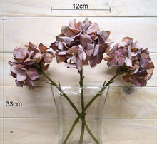 "Load image into Gallery viewer, ""Dried Look"" Silk Hydrangea"