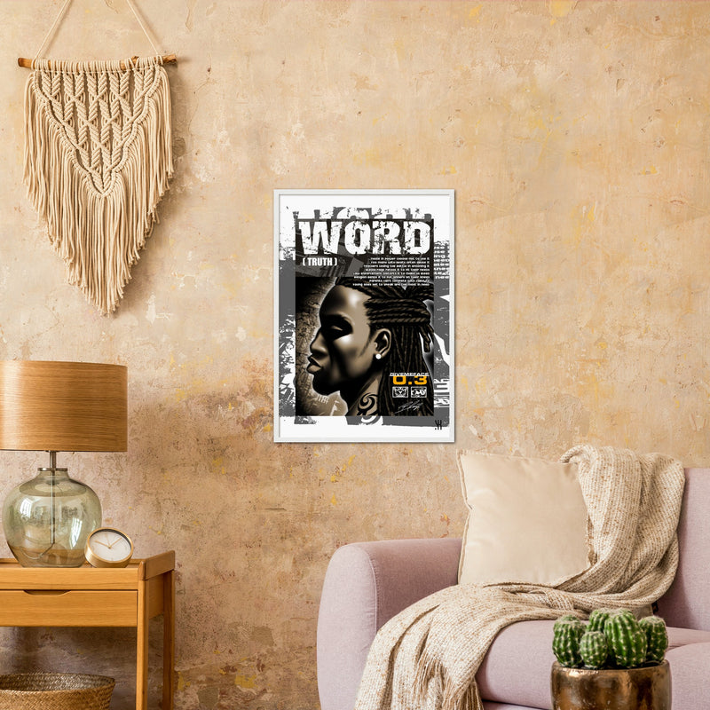 Word /2004  Classic Matte Paper Wooden Framed Poster