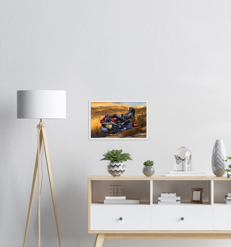 Rest Stop   /2021  Classic Matte Paper Wooden Framed Poster
