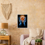 Fire and Ice /2008  Classic Matte Paper Wooden Framed Poster