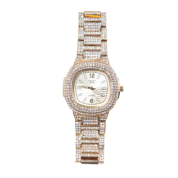 Icy Kweens Rose Gold Moon Watch