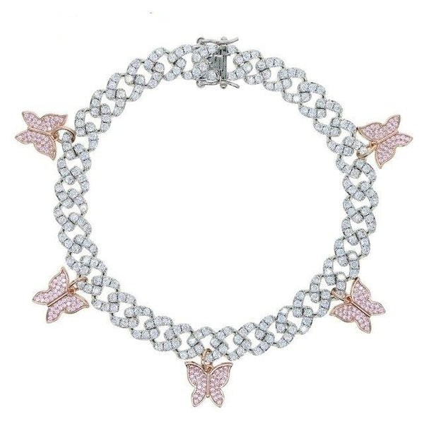 Icy Kweens butterflly Anklet