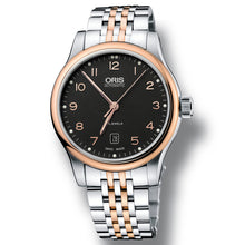 Load image into Gallery viewer, Oris Classic Black Dial Two Tone ( steel & rose gold ) bracelet watch