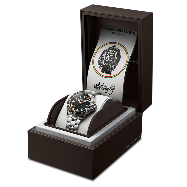 Raymond Weil - Tango Bob Marley Limited Edition Men's GMT Watch - 8280-ST1-BMY18